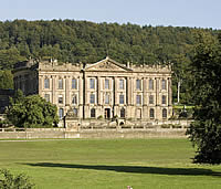Image: Derbyshire stately home of the Duke of Devonshire, Chatsworth House.