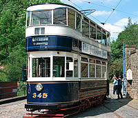 Image: Peak District, Crich Tramway Willage.